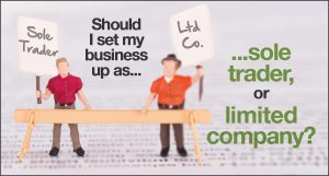 Should I set my business up as a sole trader, or as a limited company?